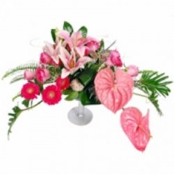 Flowers סידור קסום בגווני הורוד