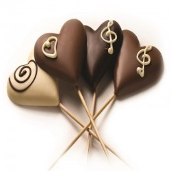 לב שוקולד גדול- מריר/חלב/לבן