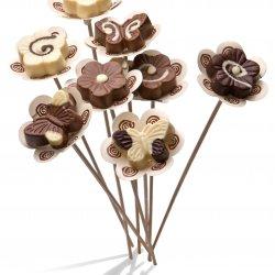 פרח שוקולד קטן- מריר/חלב/לבן