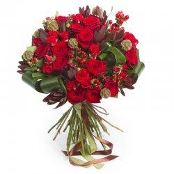 זר ורדים אש