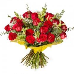 זר ורדים וירק