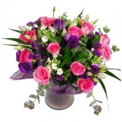 זר פרחים רומנטי בורוד