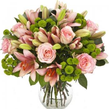 זר פרחים ורוד ומיוחד