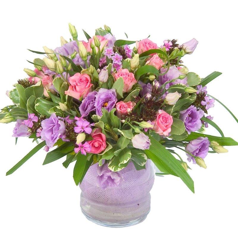 זר פרחים ריגוש ורוד
