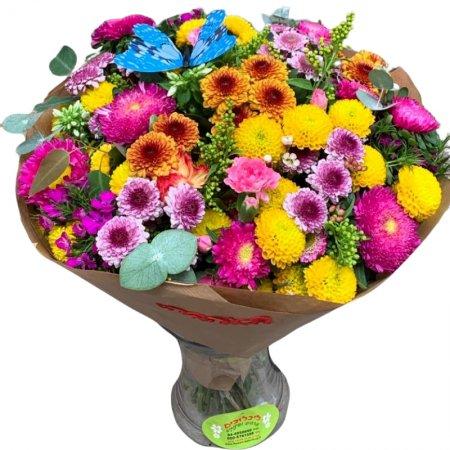 זר פרחים חלומי
