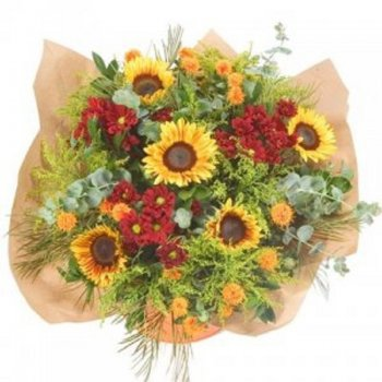 זר פרחים פראי