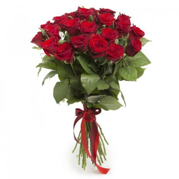 זר ורדים אדומים