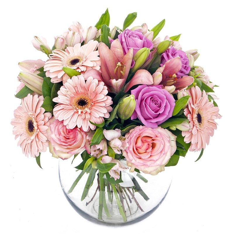 זר פרחים ורוד