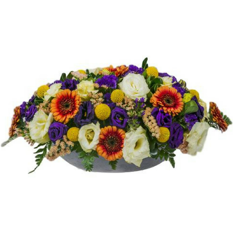 סידור פרחים אובלי