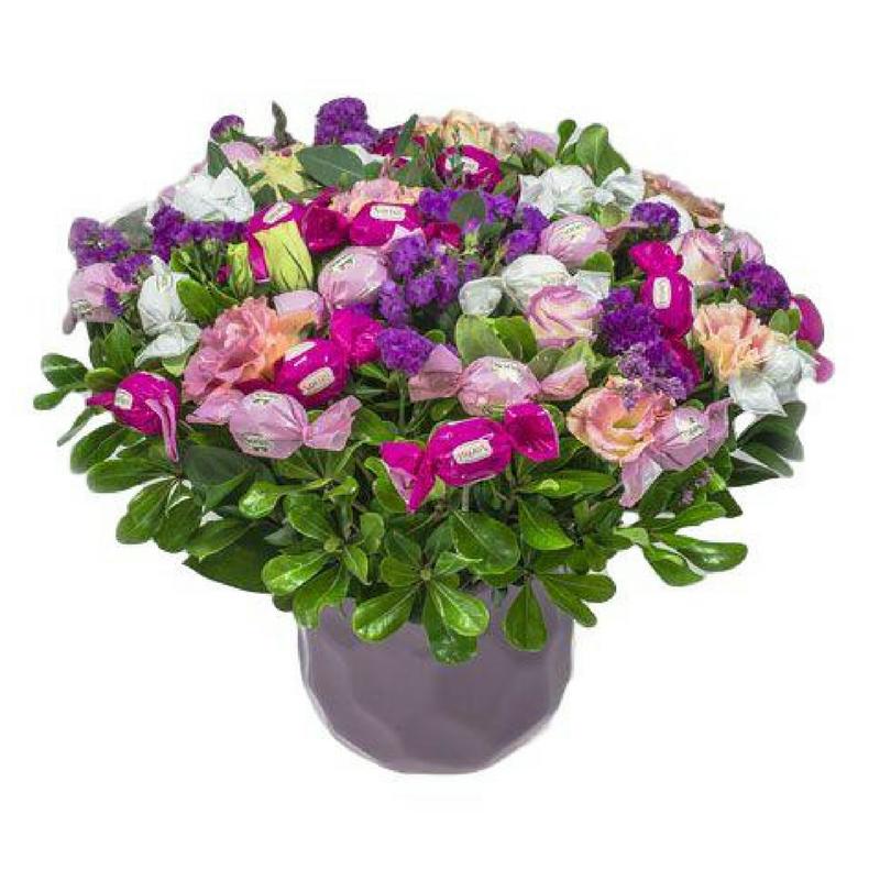 זר פרחים מתוקים