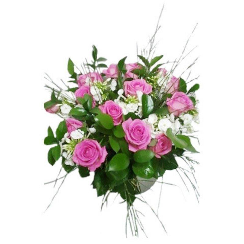 זר ורדים סגול