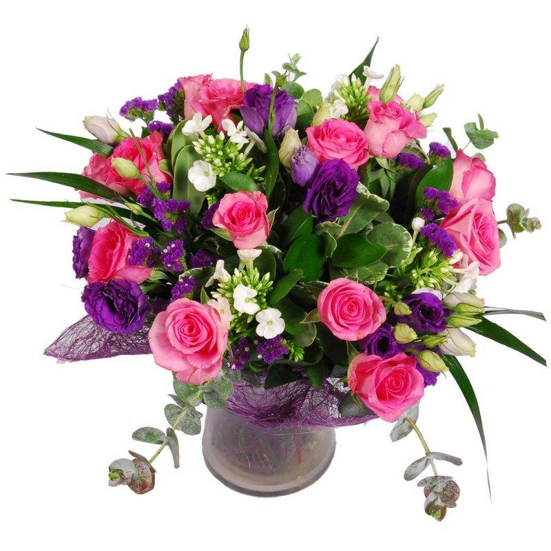 זר פרחים משמח
