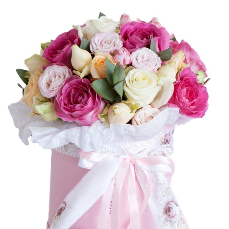 קופסת ורדים בשלל צבעים