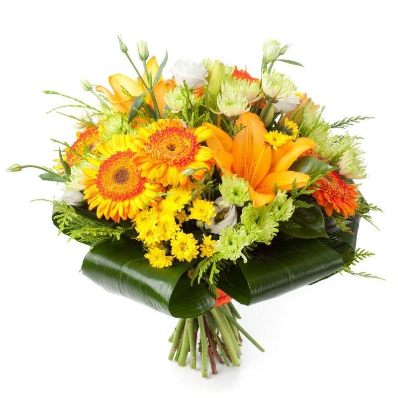 זר פרחים להבה