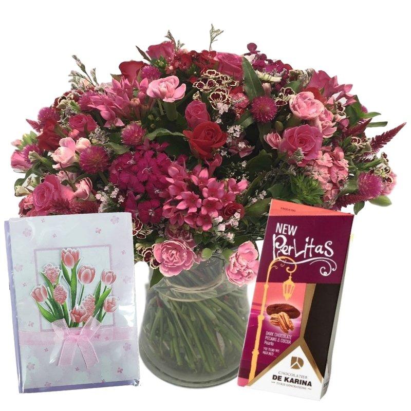 דיל זר פרחים ורוד תשוקה