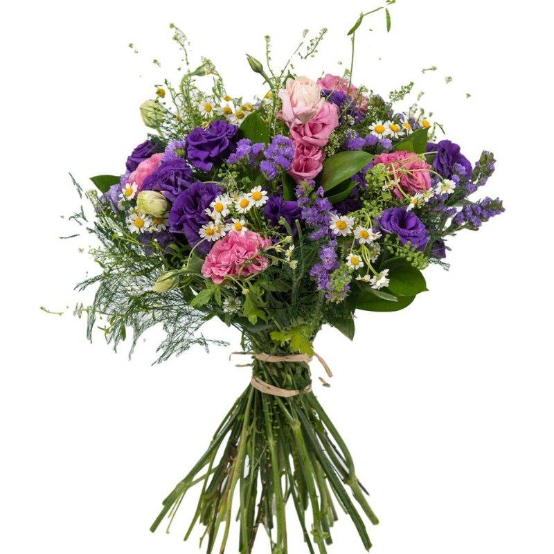 זר פרחים סגול מרפא